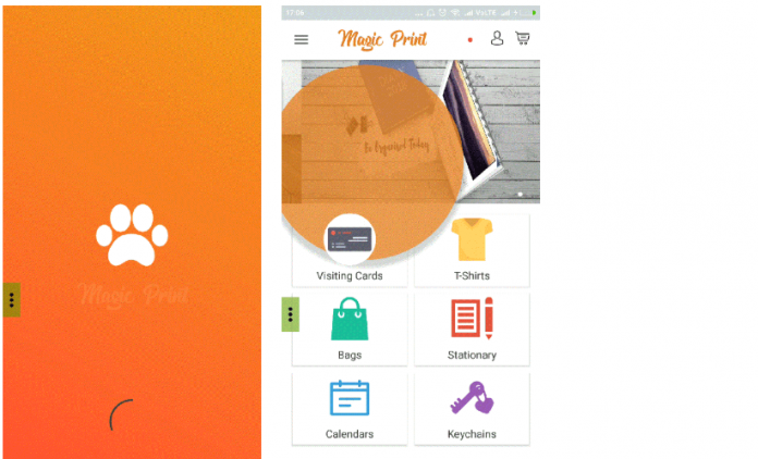 , MagicPrint – ECommerce App Android Open Source Project with Code Download