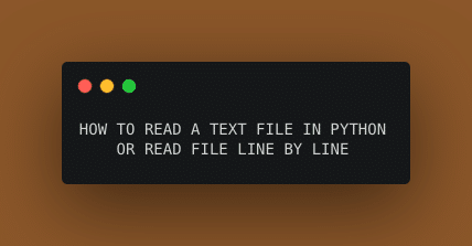How to read a text file line by line in python