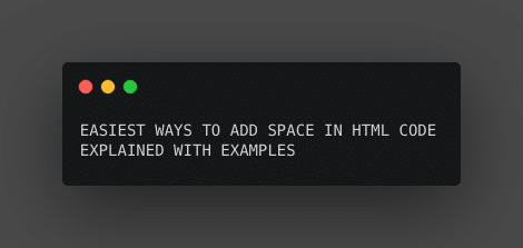 for space in html