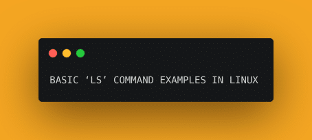 ls is command in linux