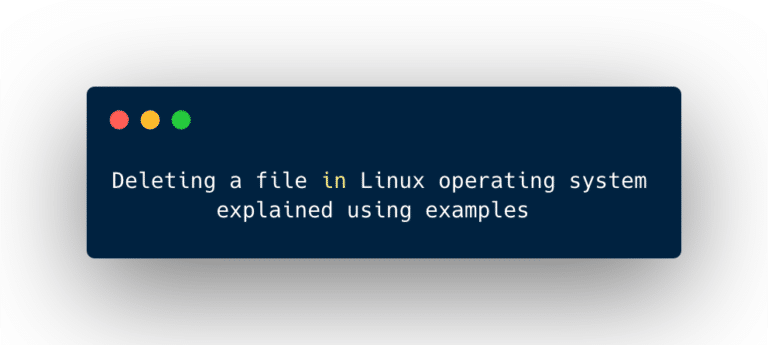 Deleting a file in Linux