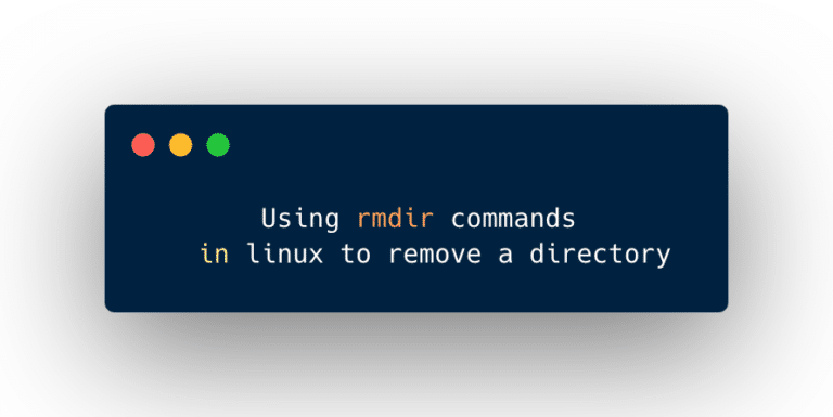 remove a directory in Linux